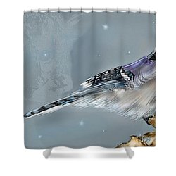 Shower Curtain featuring the digital art A Friend For Lunch Three by Darren Cannell