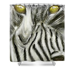 Shower Curtain featuring the digital art A Friend For Lunch Two by Darren Cannell