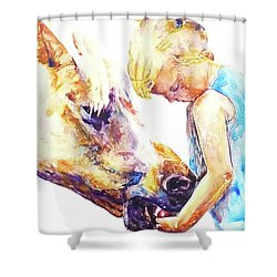 A Friendly Bribe Shower Curtain