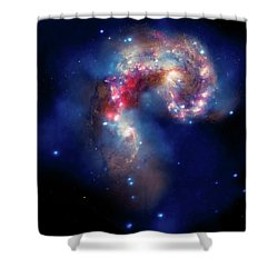 Shower Curtain featuring the photograph A Galactic Spectacle by Marco Oliveira