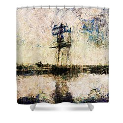 Shower Curtain featuring the photograph A Gallant Ship by Claire Bull