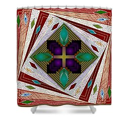 Shower Curtain featuring the digital art A Game Of Diamonds by Mario Carini