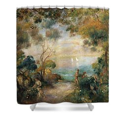 A Garden In Sorrento Shower Curtain by Pierre Auguste Renoir