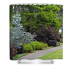 A Garden Walk Shower Curtain