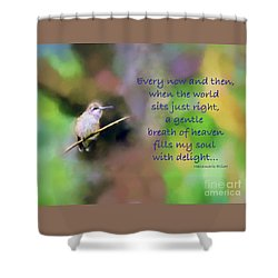 Shower Curtain featuring the photograph A Gentle Breath Of Heaven by Kerri Farley