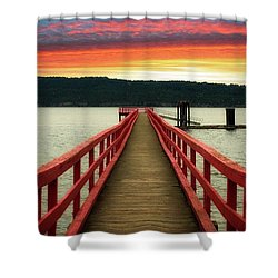 A Gentle Evening Shower Curtain by Rod Jellison