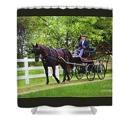 A Gentleman's Sunday Ride Shower Curtain