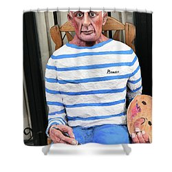 A Giant Of Spanish Art Shower Curtain
