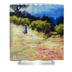 A Girl From Gran Porcon, Peru Impression Shower Curtain