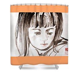 A Girl Shower Curtain