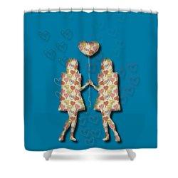 A Girl Loves A Girl Shower Curtain