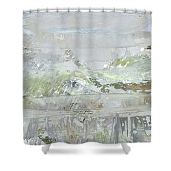 A Glass Half Full Shower Curtain