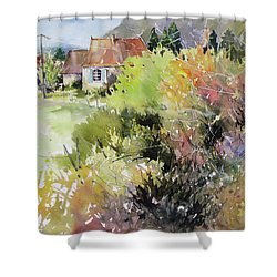 A Glimpse Beyond The Brambles, France.. Shower Curtain by Rae Andrews