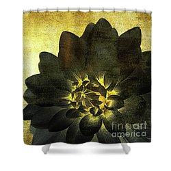 A Golden Heart Shower Curtain