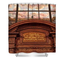 Shower Curtain featuring the photograph A Good Book by Jessica Jenney