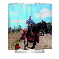 A Good Knight Shower Curtain