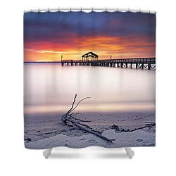 Shower Curtain featuring the photograph A Good Morning by Edward Kreis