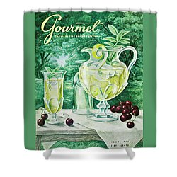 A Gourmet Cover Of Glassware Shower Curtain