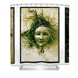 A Graft In Winter Triptych Shower Curtain