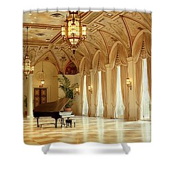 A Grand Piano Shower Curtain by Rich Franco