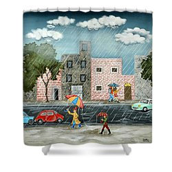 A Great Rainy Day Shower Curtain