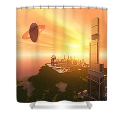 A Great Vision Shower Curtain by Corey Ford