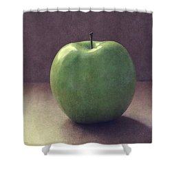 A Green Apple- Art By Linda Woods Shower Curtain