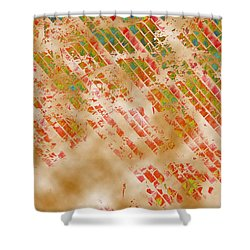 A Grid Of Red Shower Curtain