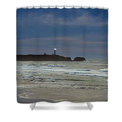 Shower Curtain featuring the photograph A Guiding Light by Jim Walls PhotoArtist