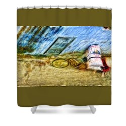 Shower Curtain featuring the photograph A Hard Day by Cameron Wood
