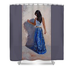 A Harmony Of Blues Shower Curtain
