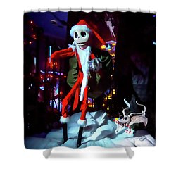 A Haunted Christmas Shower Curtain