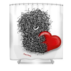 Frizzy Freddy- A Heart Just For You Shower Curtain