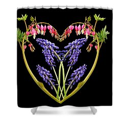 A Heart Of Hearts Shower Curtain by Michael Peychich