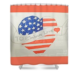 A Heart Of Love  Shower Curtain