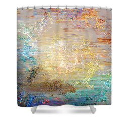 A Heart So Big - Custom Version 3 - Abstract Art Shower Curtain by Jaison Cianelli