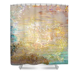 A Heart So Big - Custom Version 4 - Abstract Art Shower Curtain by Jaison Cianelli