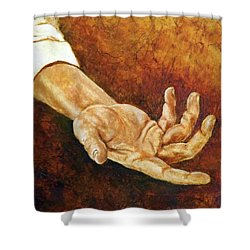 A Helping Hand Shower Curtain