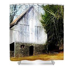 A Hidden Barn In West Chester, Pa Shower Curtain