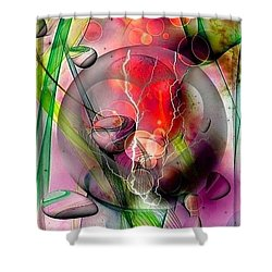 Shower Curtain featuring the digital art a hidden heart by Nico Bielow by Nico Bielow