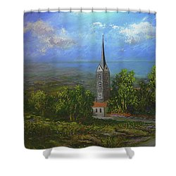 A Higher Place Shower Curtain