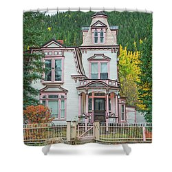 A Historical Treasure Constructed In 1870, Maxwell House, Georgetown, Colorado  Shower Curtain