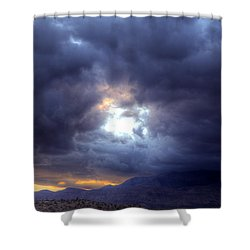 A Hole In The Sky Shower Curtain