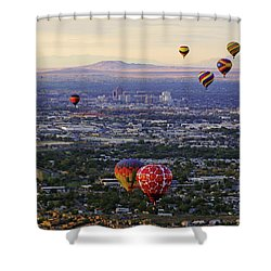 A Hot Air Ride To Albuquerque Cropped Shower Curtain