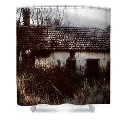 A House In The Woods Shower Curtain by Mimulux patricia no No