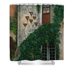 A House Of Vines Shower Curtain by Charlotte Blanchard
