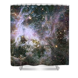 Shower Curtain featuring the photograph A Hubble Infrared View Of The Tarantula Nebula by Nasa