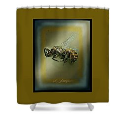 A Humble Bee Remembered Shower Curtain by Hartmut Jager