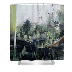 A Humboldt Holiday Shower Curtain