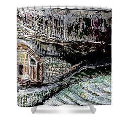 A Hut In The Valley  Shower Curtain